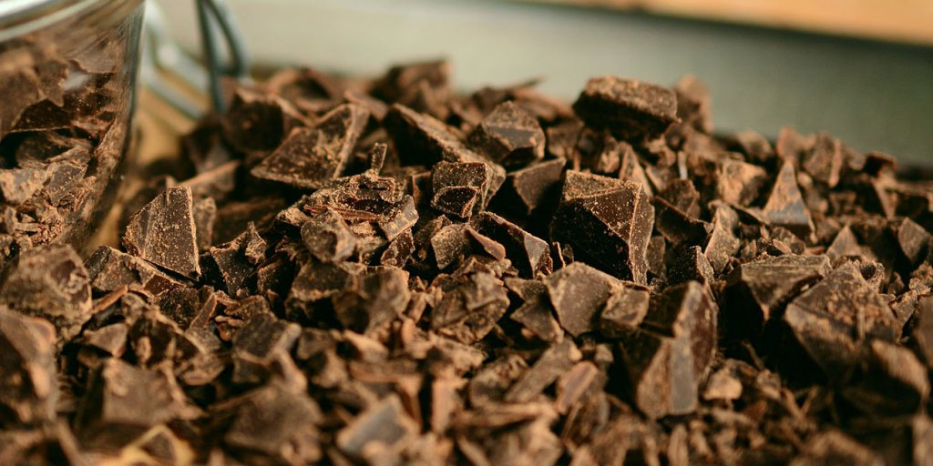 parçalanmış çikolata