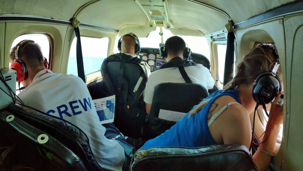 Sayım yapan bir uçaktan örnek görüntü