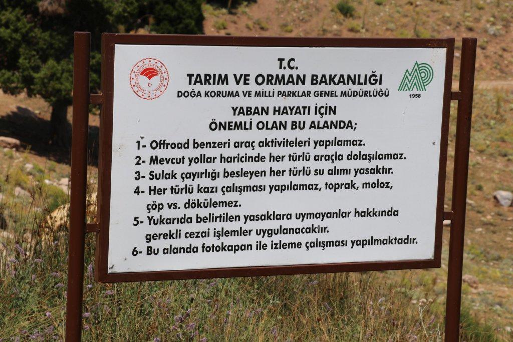 Tarım ve Orman Bakanlığının uyarı levhası