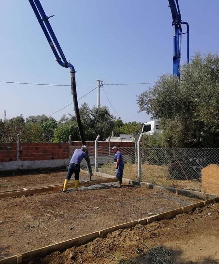 kedi ve köpekler için yapılmaya başlanan tesis inşaatı