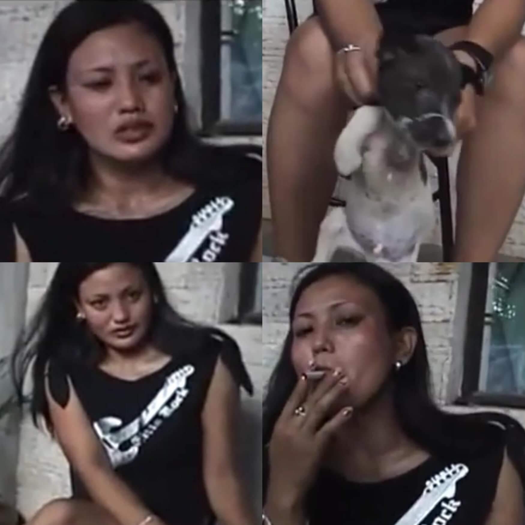yavru köpeğe işkence yapan kadının videosu yürek burktu