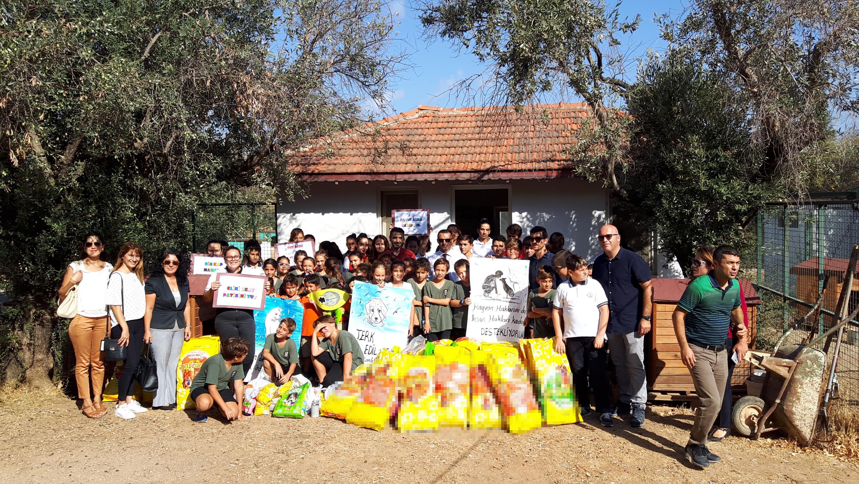 Kampanya sğresşnce barınak için 500 kilo mama bağışı toplandı