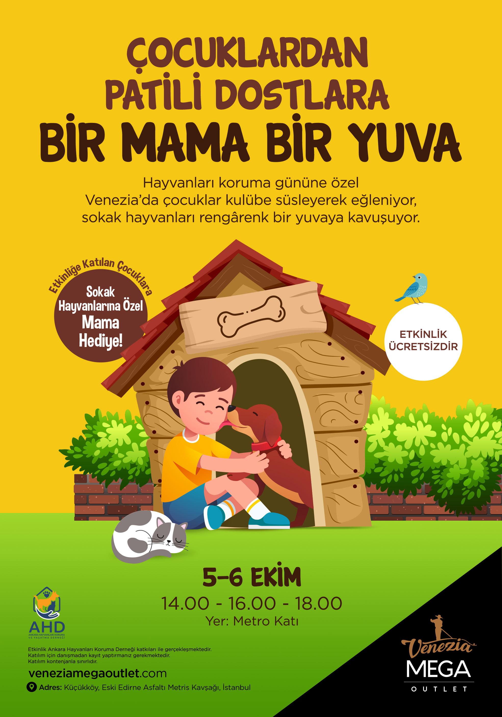 Vanezia Mega Outlet'in düzenlediği etkinlik afişi