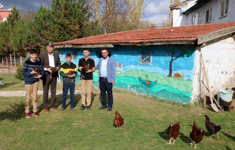Hayvan sevgisi ve yardımlaşma için okul bahçesine kümes yaptılar
